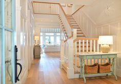 beach house foyer + stairway