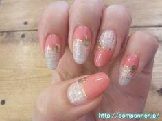 セパレートカラーのまっすぐフレンチネイル  Separate straight French nail color