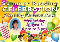 Join us at our Summer Reading Finale! Summer Reading Club members and their families can join us for a fun picnic celebration. Tickets earned during the summer can be used for games and inflatables.