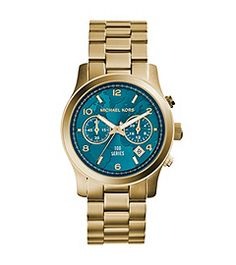 Watch Hunger Stop Runway Gold-Tone Watch www.happinessfashionstyle.com #michaelkors #watch #mk #lovely #accessories