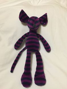 Jellycat Zooper Dooper Mouse Soft Toy Purple Blue Stripe Plush Floppy New | eBay