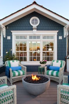 Outdoor Furniture, outdoor fire pit. Outdoor furniture. Outdoor Entertaining Ideas.   Flagg Coastal Homes