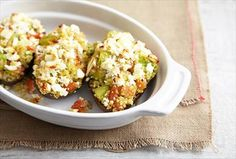 P everyday Stuffed Baked #Avacados with Quinoa,tomatoes and feta cheese #recipe
