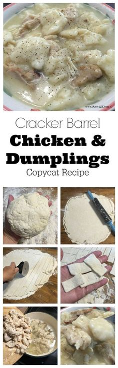 Cracker Barrel Chicken and Dumplings Copycat Recipe Man, oh man! If there is every a simple recipe to try it would be this Cracker Barrel Chicken and Dumplings Copycat Recipe. I was able to make this Copycat Recipes, Crockpot Recipes, Chicken Recipes, Cooking Recipes, Baked Chicken, Chicken Soups, Southern Food Recipes, Dump Chicken, Vegetarian Chicken