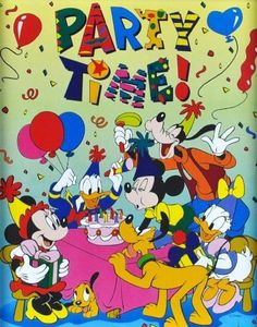 8x10 DISNEY Mickey Mouse & The Gang - Party Time **RARE**VINTAGE**OOP by…