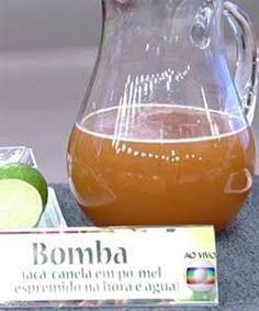 CHÁ EMAGRECEDOR 150 ml de àgua 1 c. de chá de canela 2 cs. de chá de vinagre de maçã, ferver bem. bater no liquidificador com o suco de 1 limão e 1 colher de chá de mel. tomar no mínimo 2 x ao dia