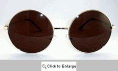 Gene Big Round Metal Sunglasses - 419T Gold Round Metal Sunglasses, Gold Sunglasses, Big