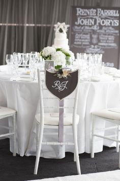 Sweet signage. Photography by inlighten.com.au Floral Design by summersfloral.com.au  Read more - http://www.stylemepretty.com/2013/06/10/sydney-wedding-at-quay-restaurant-from-inlighten-photography/