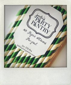jaala | PARTY PANTRY Green and White Paper Straws
