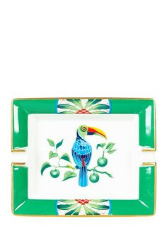 Vintage Hermes Porcelain/Limoges Ashtray with Tucan Bird Circa 1980s by Vintage Favs on @HauteLook