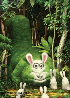 Big Bad Bunny Eater, Bobby Chiu on ArtStation at https://www.artstation.com/artwork/L3NnR