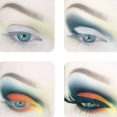 This bright orange and yellow eye is a surefire hit with an easy how-to. See the step by step guide and wow all your friends.