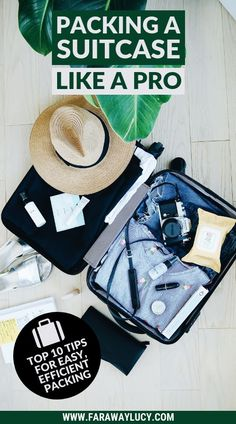 Packing a Suitcase Like a Pro: My Top 10 Packing Tips. How to Pack a Suitcase. How to Pack Light. How to Pack Efficiently. How to Pack Luggage. How to Pack Clothes. Best Way to Pack a Suitcase. Best Way to Pack Clothes.Packing For Holiday. Packing for Vac Suitcase Packing Tips, Packing Tips For Vacation, Travel Packing, Packing Hacks, Packing Cubes, Vacation Travel, Family Travel, Packing For Holiday, Beach Travel