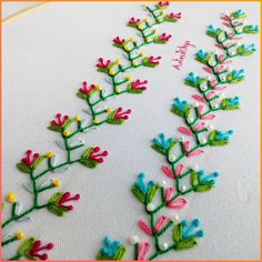 Bordado a Mano: Puntadas Decorativas 9 Hand Embroidery: Decorative Stitches Hand Embroidery Videos, Embroidery Stitches Tutorial, Embroidery Flowers Pattern, Flower Embroidery Designs, Creative Embroidery, Simple Embroidery, Learn Embroidery, Crewel Embroidery, Embroidery Kits