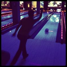 Bowling at Lucky Strike, Philadelphia, PA. So retro and fun!