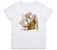 El Cheapo Alice in Wonderland - Looking for The Door (Brown) Youth White T-Shirt