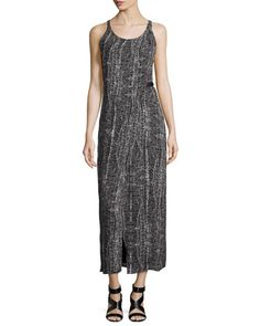 Sleeveless Faux-Wrap Day Dress, Black by Halston Heritage at Neiman Marcus.