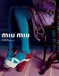 Miu Miu Spring 2014 Shoe Campaign