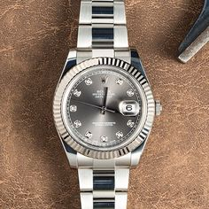 Rolex Datejust with Factory Diamond Dial. Mint. See BOBSWATCHES.com soon for…