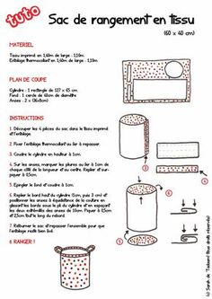 tuto-sac-a-linge. Coin Couture, Baby Couture, Couture Sewing, Sewing Hacks, Sewing Tutorials, Sewing Projects, Sewing Patterns, Costura Diy, Baby Sewing