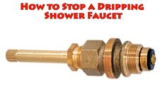 How to Stop a dripping shower faucet - repair leaky bathtub water tap ba...