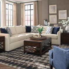 Trisha Yearwood Home Collection Enjoy Gwendolyn Gray Area Rug Living Room Windows, Home Living Room, Living Room Designs, Living Room Furniture, Living Room Decor, Modern Furniture, Rustic Furniture, Kitchen Living, Room Kitchen