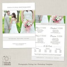 Family Photography Pricing Guide Template Photography Price List