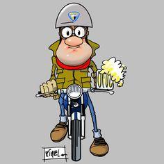 Bultaco Mercurio, Superman, Motorcycle Art, Custom Cars, Cars And Motorcycles, Bart Simpson, Yamaha, Harley Davidson, Street Art