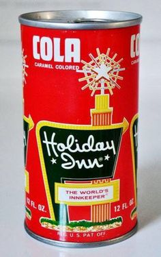 Holiday Inn Cola pull tab can. 1960's.