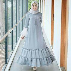Hijab Abaya Fashion, Modest Fashion, Fashion Dresses, Muslim Long Dress, Simple Long Dress, Moslem Fashion, Modele Hijab, Hijab Chic, Western Dresses