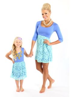 Mommy and me Lace Dress.. definitely going to be this type of mom haha.