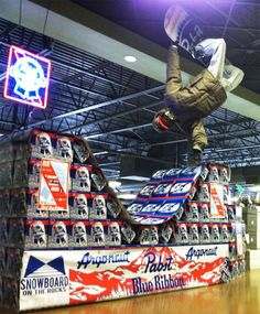 Snowboarding beer   Community Post: 13 Brilliantly Clever Point Of Sale Displays
