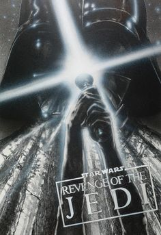 This circa 1982 black-and-white concept treatment by John Alvin was done before George Lucas famously changed the title from 'Revenge of the Jedi' to 'Return of the Jedi.'