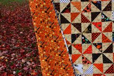 halloween quilts | The Q and the U - Quilting Blog: Fall/Halloween Pinwheel Quilt