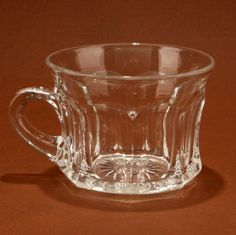 Heisey Colonial Punch Cup 400 Clear Glass 4 oz Vtg