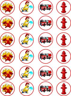 Fireman Edible Cupcake / Fairy Cake Wafer Paper Toppers x 24 Firefighter Birthday Cakes, Fireman Cake, Firefighter Crafts, Fireman Birthday, Fireman Party, Cake Wallpaper, Cartoon Trees, Fairy Cakes, Wafer Paper