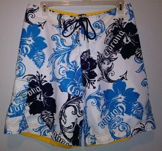 Casual Womens Swim Trunks Breathable Quick Dry Printed Beach Shorts Firetrucks Orange Summer Boardshorts with Mesh Lining