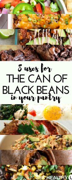 If you're looking to include additional sources of protein and fiber in your diet (which we all should be!), black beans are one of the best foods you can eat. So whether you buy a can of black beans every time you go to store or purchase them in bulk from Costco, here are 8 awesome uses for the can of black beans in your pantry.