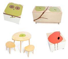 childrens furniture diy pain owl bird trees
