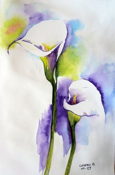 art of maryse de may Watercolor Projects, Abstract Watercolor, Watercolor Flowers, Watercolor Paintings, Watercolours, Plant Drawing, Cool Paintings, Flower Art, Art Projects