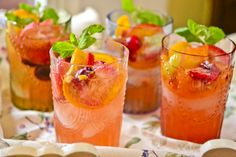 White Wine Sangria: 1 Bottle of white wine (Riesling, Albarino, Chablis, Gewurztraminer, Pinot Gris, Chardonnay, Sauvignon Blanc) 2/3 cup white sugar 3 oranges (sliced) or may substitute 1 cup of orange juice) 1 lemon (sliced) 1 lime (sliced) 2 oz. brandy (optional) 1/2 liter of ginger ale or club soda (ginger ale for those with a sweeter tooth!)