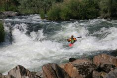 Kayaking on the Rogue River in Grants Pass, Oregon.