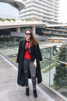 #ootd #me #fashion #streetstyle #style #fashionblogger #red #jbrand