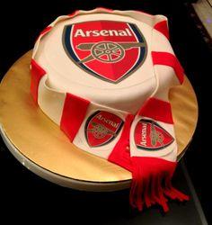 The Gunner Fan Arsenal Cake Football Themed Cakes, Hockey Cakes, Soccer Cake, Football Birthday Cake, Soccer Birthday Parties, Birthday Cakes For Men, Happy Birthday, Cake Birthday, Birthday Ideas