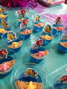 Little Mermaid Ocean Jello Cups