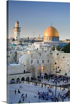 size: Photographic Print: Western Wall and Dome of the Rock Mosque, Jerusalem, Israel by Michele Falzone : Artists Places Around The World, Oh The Places You'll Go, Places To Travel, Places To Visit, Around The Worlds, Abu Dhabi, Jerusalem Israel, Temple Mount Jerusalem, Masada Israel