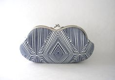 Sunglasses case Eyeglasses Case Clutch Purse - navy blue line art by thezakka on Etsy https://www.etsy.com/listing/208735139/sunglasses-case-eyeglasses-case-clutch