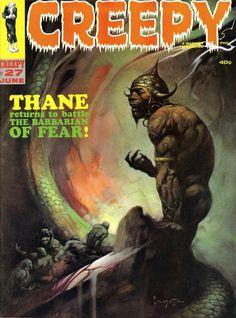 Creepy 27 / Warren Magazine / cover June 1969 / 1967 (Frank Frazetta)