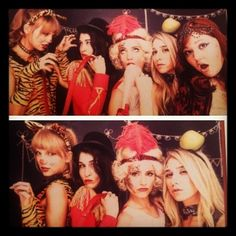 Dianna Agron with Bestie Taylor Swift for Circus B-day