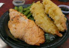 Salmon Teriyaki and Shrimp Tempura
